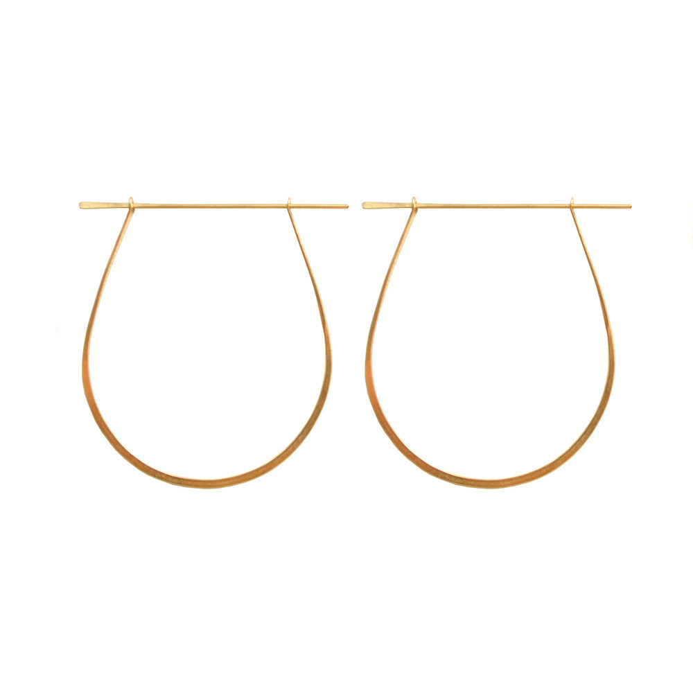 Handmade Gold or Silver Hoop earrings