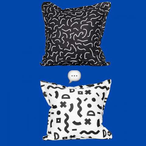 Zite Memphis Design Pillow