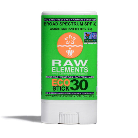 Raw Elements - Eco Stick +30, high performance Ecofriendly Sunblock