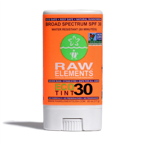 Raw Elements - Eco Tint Stick +30, high performance ecofriendly sunblock