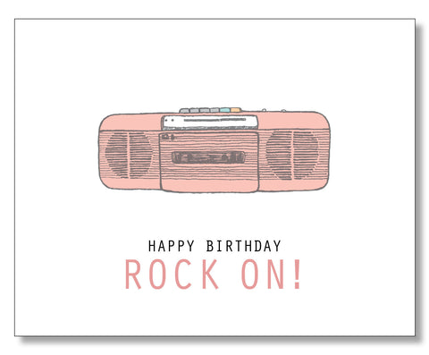 Rock On Birthday Card