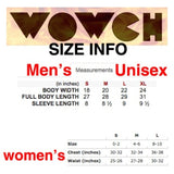 Size info for Wowch Organic Cotton Tee