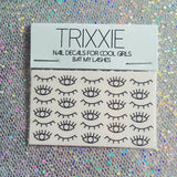 Trixxie BAT MY LASHES eye waterslide nail decals - set of 30 nail decals
