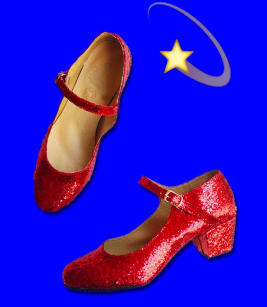 Red Glitter Mary Jane Heels