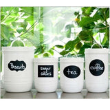 Removable Chalk Board Sticker Labels for Mason Jars