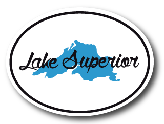 Lake Superior Oval Sticker