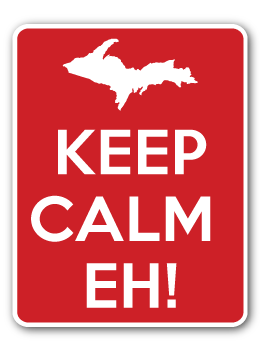 Keep Calm Eh! Decal
