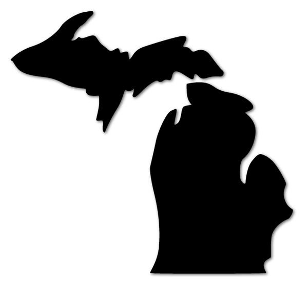 Michigan Die Cut Decal (multiple colors)