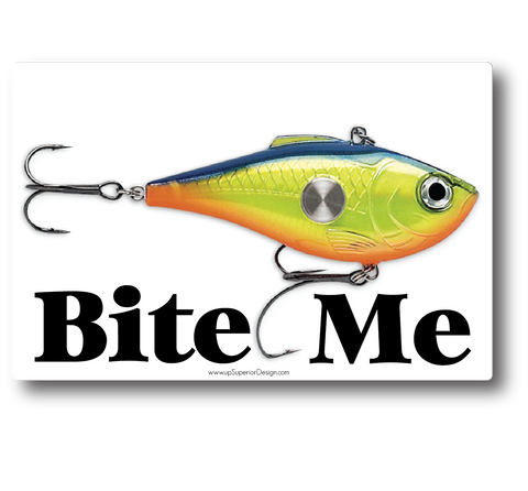 Bite Me Lure Sticker