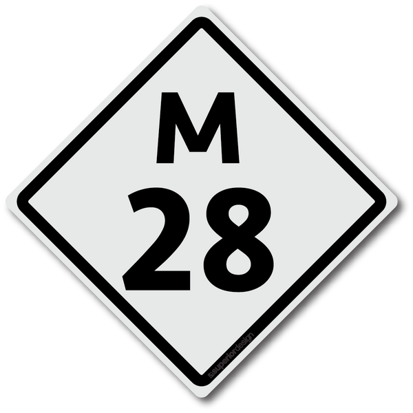 M28 Road Sign Sticker