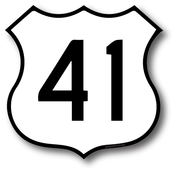 US 41 Sticker