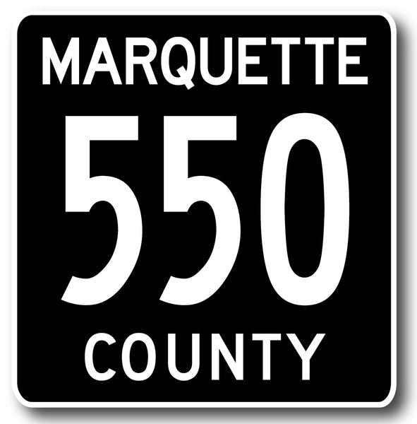Marquette County Road 550 Sticker