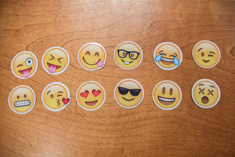 12 Emoji Sticker Set