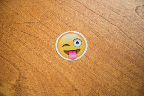Wacky Wink Tongue Emoji Sticker