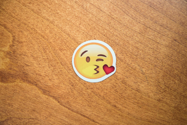 Kiss Heart Love Emoji Sticker