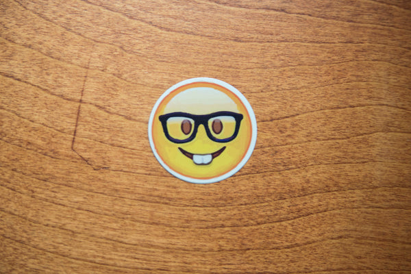 Nerd Face Emoji Sticker