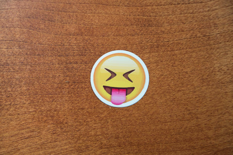 Laughing Tongue Out Emoji Sticker