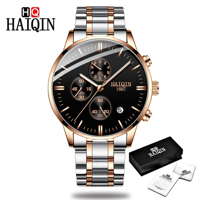 54cee69d811b HAIQIN Men s watches Fashion Mens watches top brand luxury Sport military  Gold