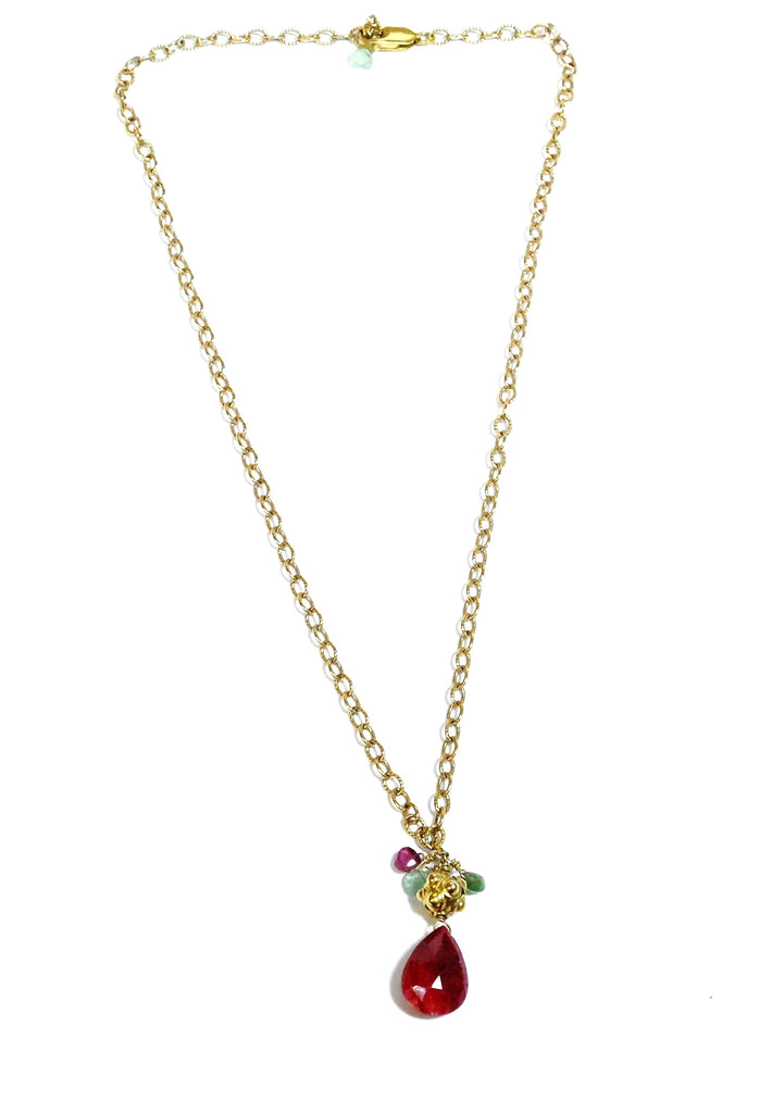 Ruby Drop Necklace - MINU Jewels