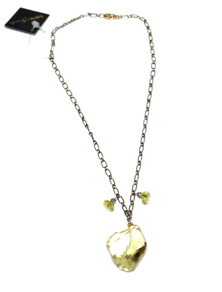 Lemon Topaz Necklace - MINU Jewels