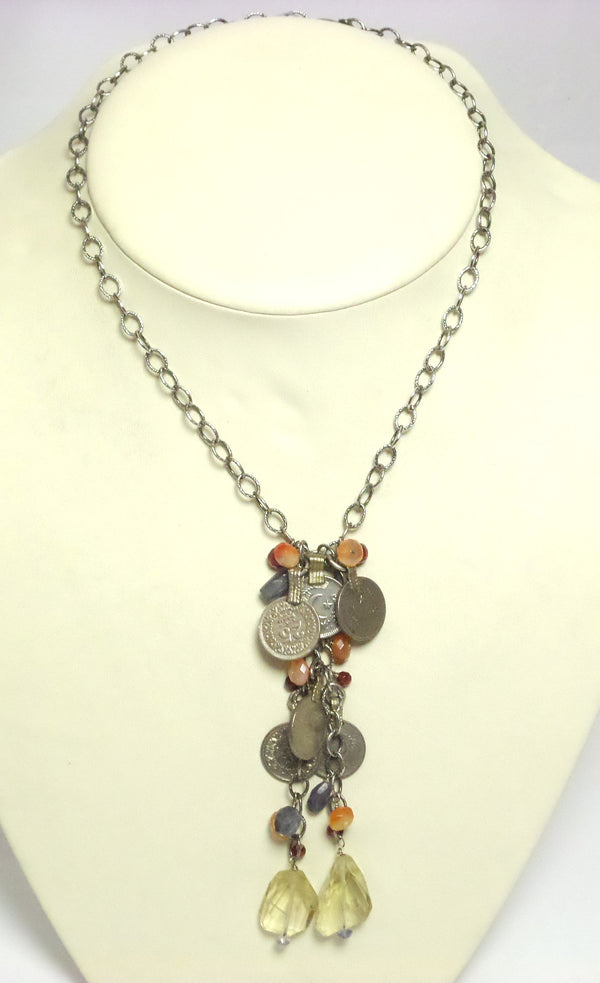 Arabic Coin Cluster Necklace - MINU Jewels