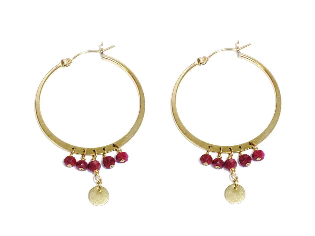Ruby Hoops - MINU Jewels