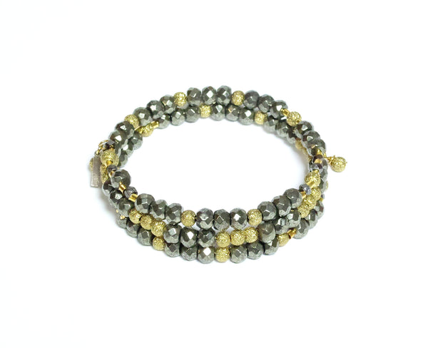 Pyrite Gold Wrap - MINU Jewels