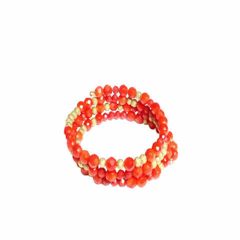 Coral Gemstone Wrap - MINU Jewels