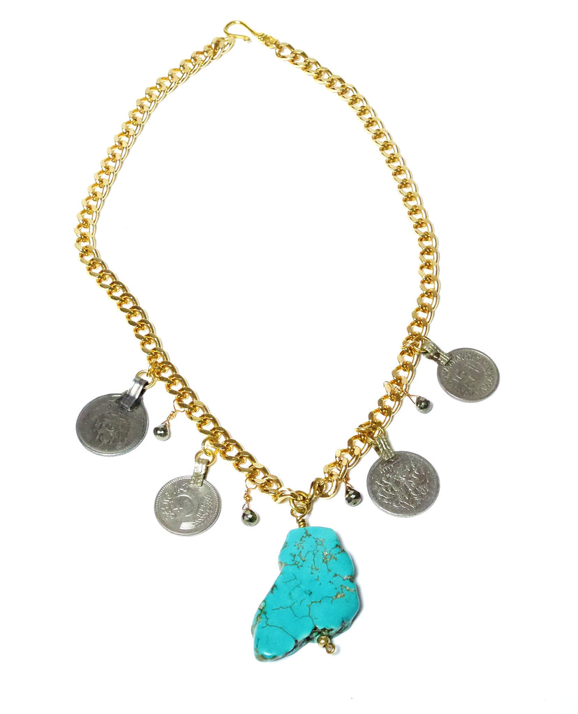 Turquoise Coins - Color Options - MINU Jewels - 1
