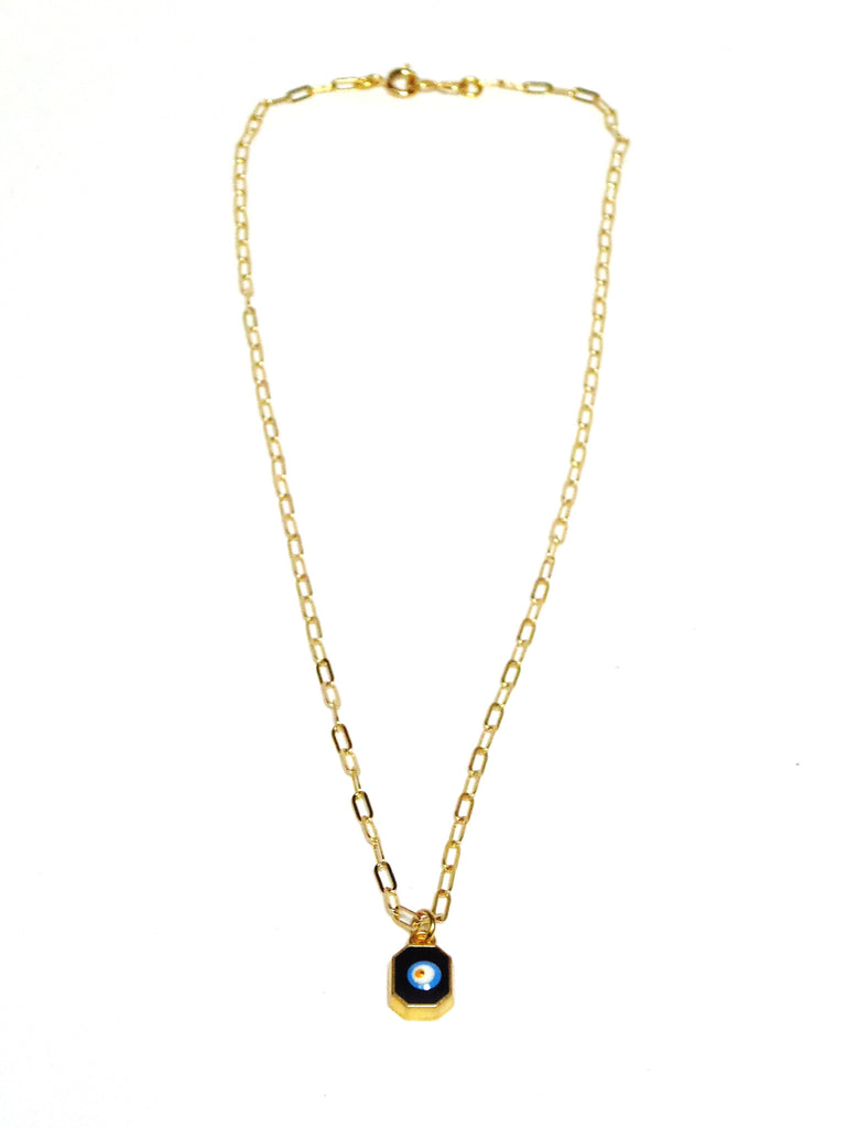 Eye Square Charm Necklace - MINU Jewels