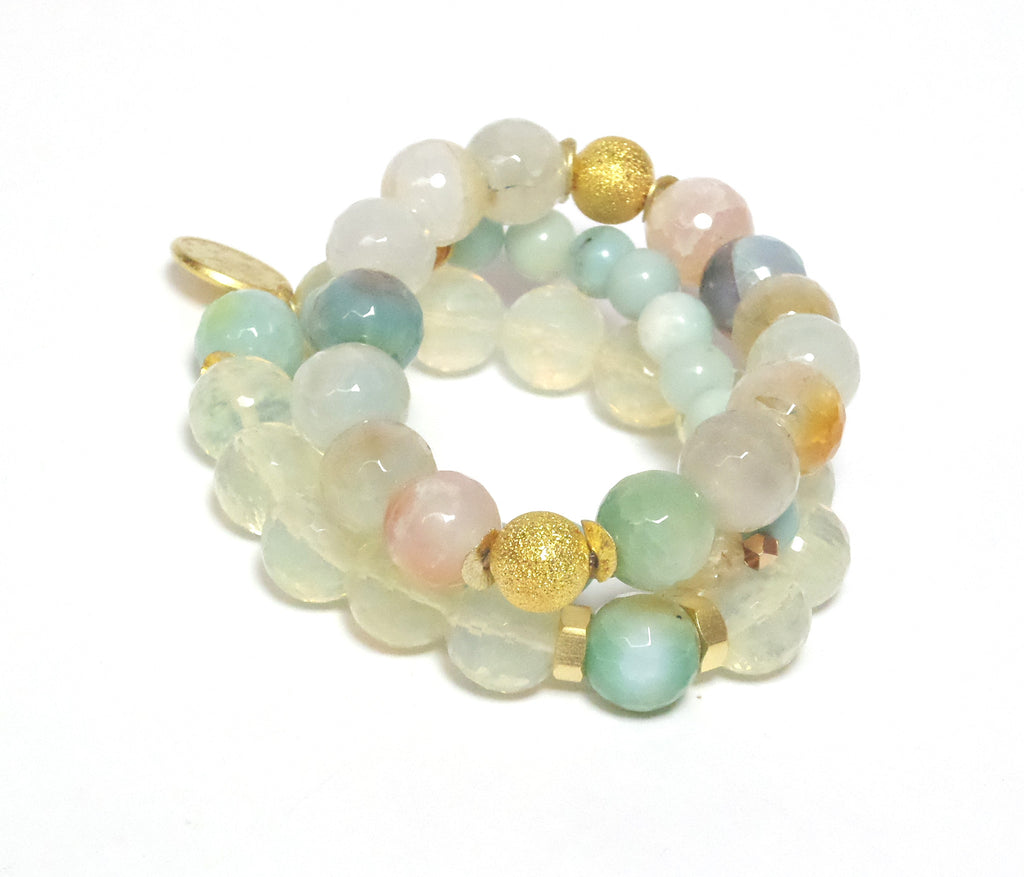 PASTELIE STONE Bracelets - Set of 3 - MINU Jewels
