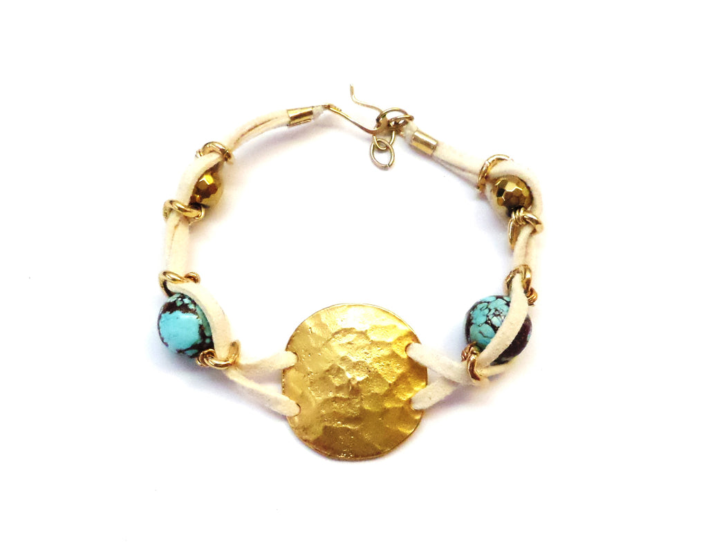 Suede Disc Bracelet - MINU Jewels - 1