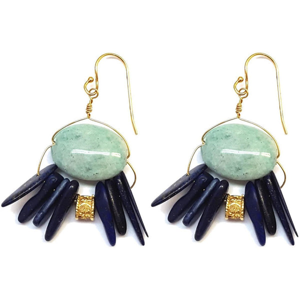 Blue Boho Earrings