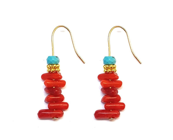 Coral Splash Chip Earrings - MINU Jewels
