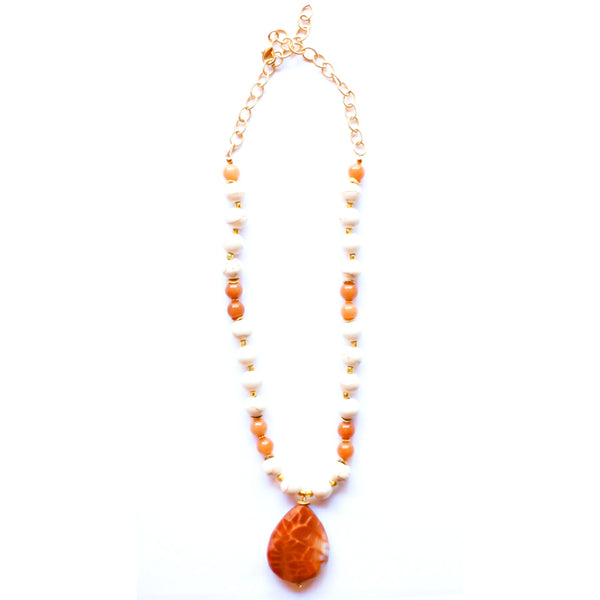 Fire Agate Necklace