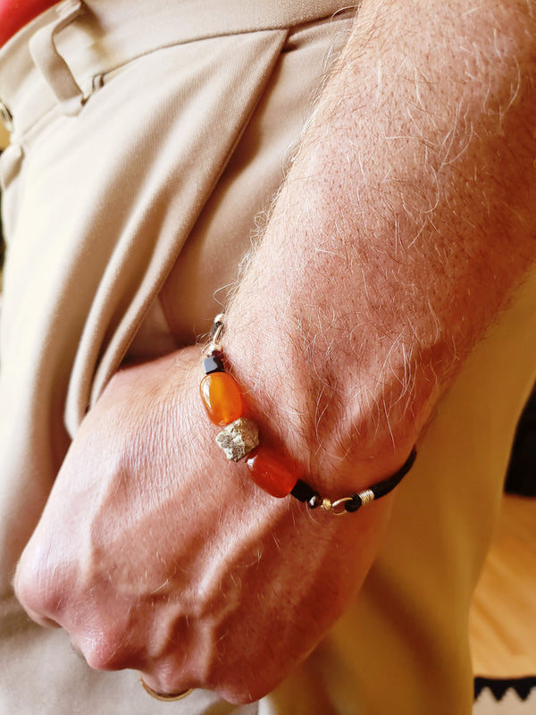Orange Bracelet For Men