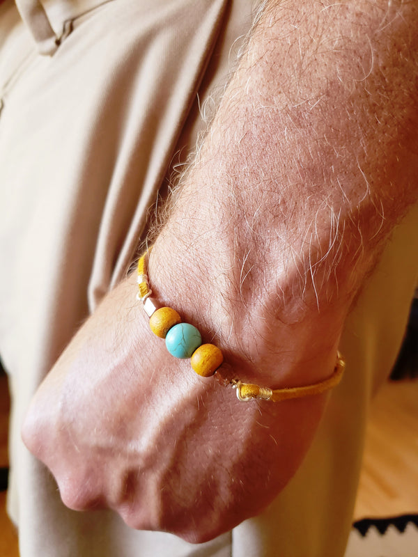 Yellow Bracelet For Men