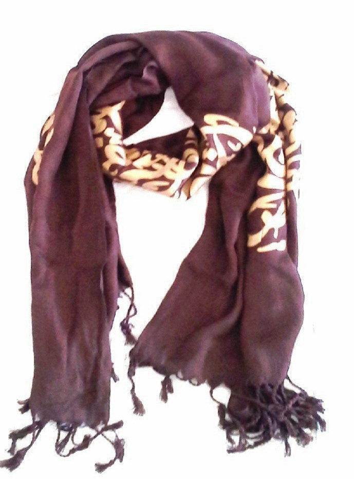 Arabic Calligraphy Scarf - Colors Available - MINU Jewels - 1