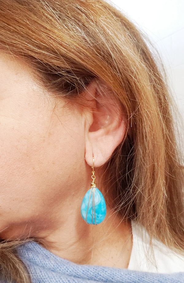Blue Lace Earrings - MINU Jewels