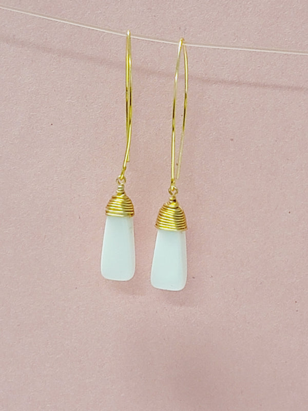 Alia White Earrings