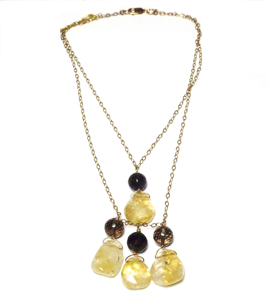 Double Strand Stone Necklace - MINU Jewels