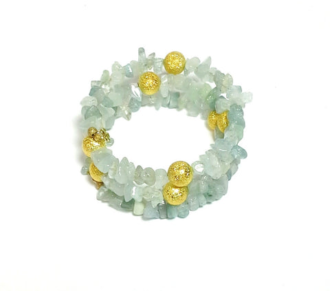 Aquamarine Gemstone Wrap - MINU Jewels