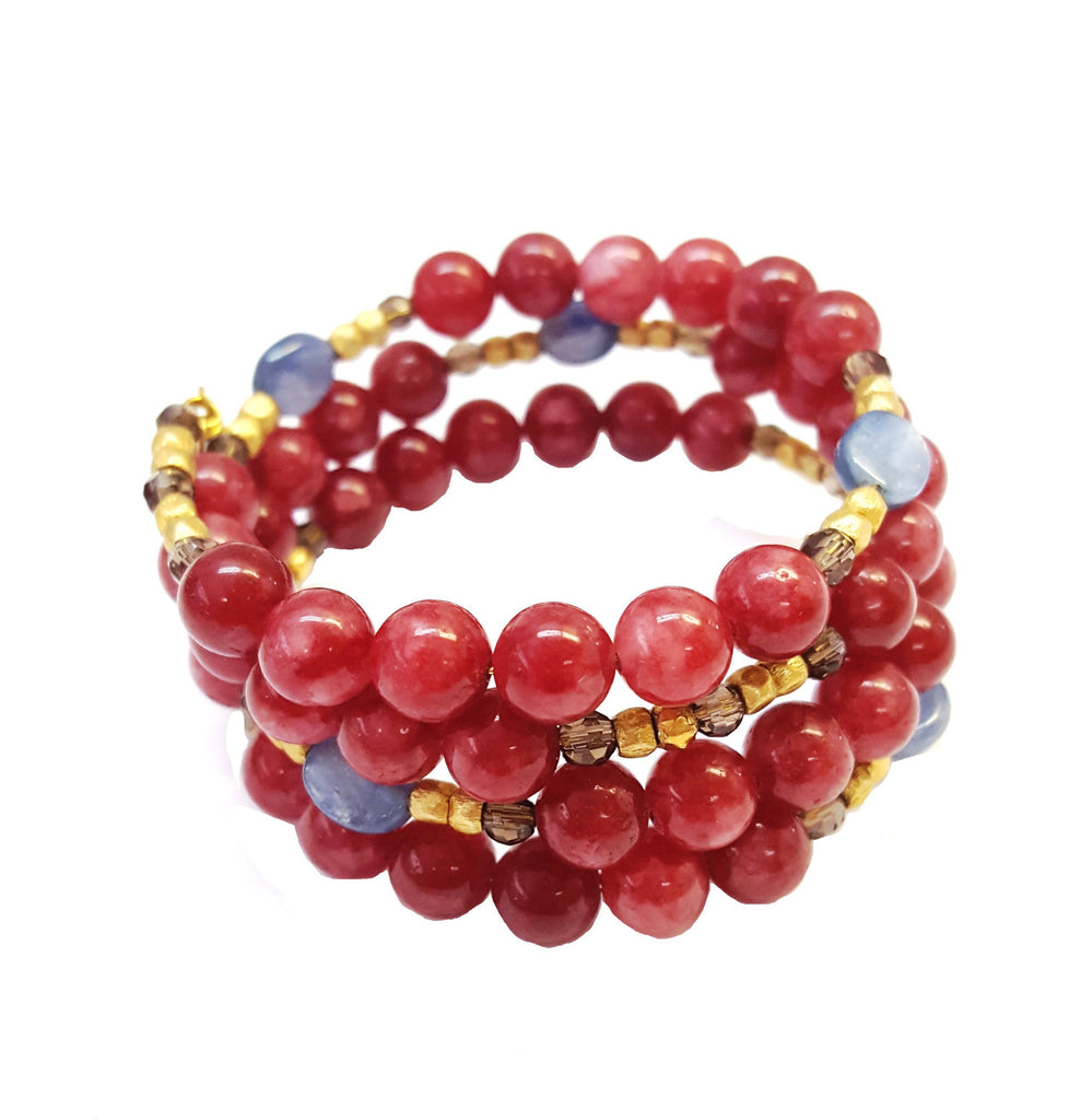 Red Jade Gemstone Wrap