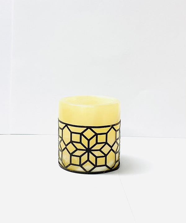 Beige Small Alabaster Candle Holder