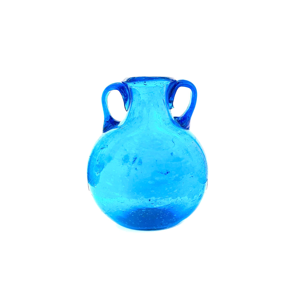 Egyptian Blue Glass Canteen