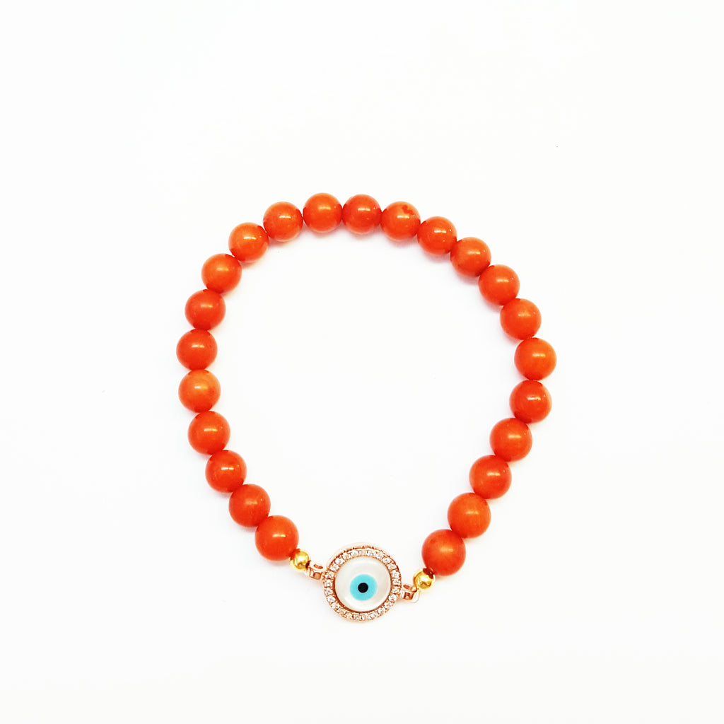 Coral Eye Charm - MINU Jewels