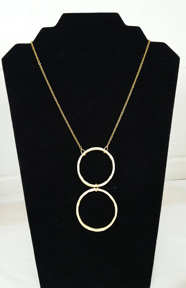 Gold Circles Necklace - MINU Jewels