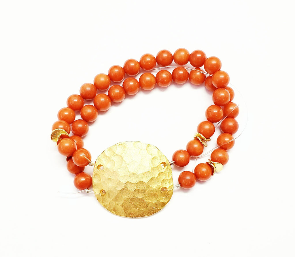 Coral Disc Bracelet - MINU Jewels