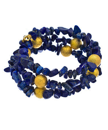 Lapis Chip Gemstone Wrap - MINU Jewels
