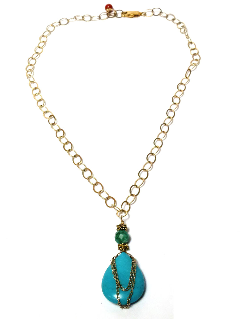 Turquoise Drop Necklace - MINU Jewels - 1